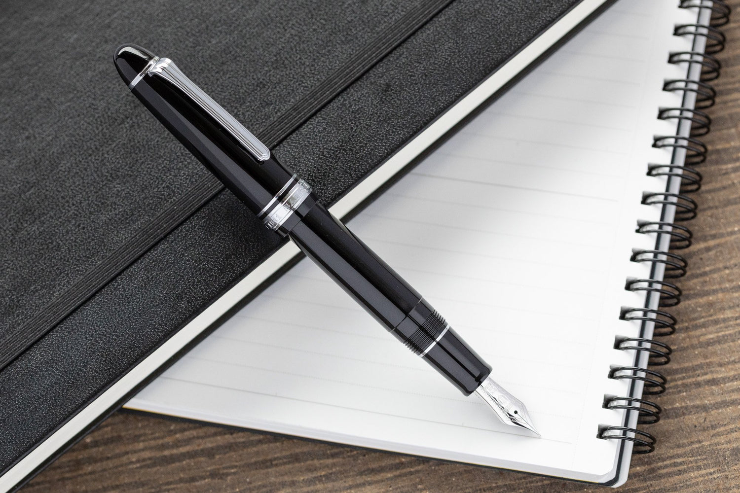 Sailor 1911L Fountain Pen - Black/Silver