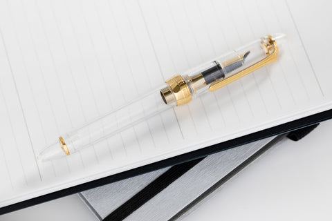 Sailor 1911S Fountain Pen - Transparent Clear/Gold