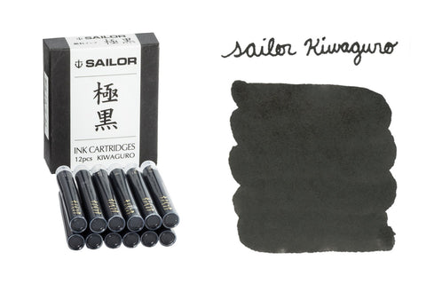 Sailor Kiwaguro Pigmented Black - Ink Cartridges