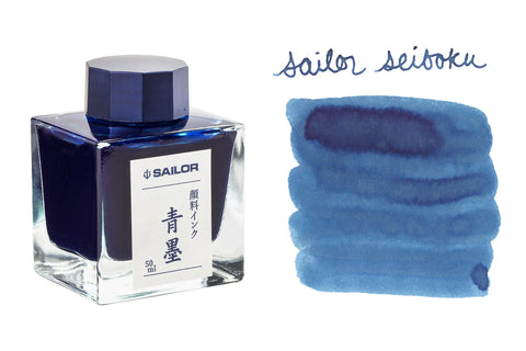 Sailor Seiboku Pigmented Blue Black - 50ml Bottled Ink