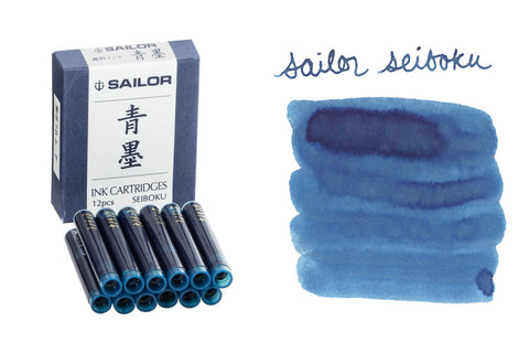 Sailor Seiboku Pigmented Blue Black - Ink Cartridges