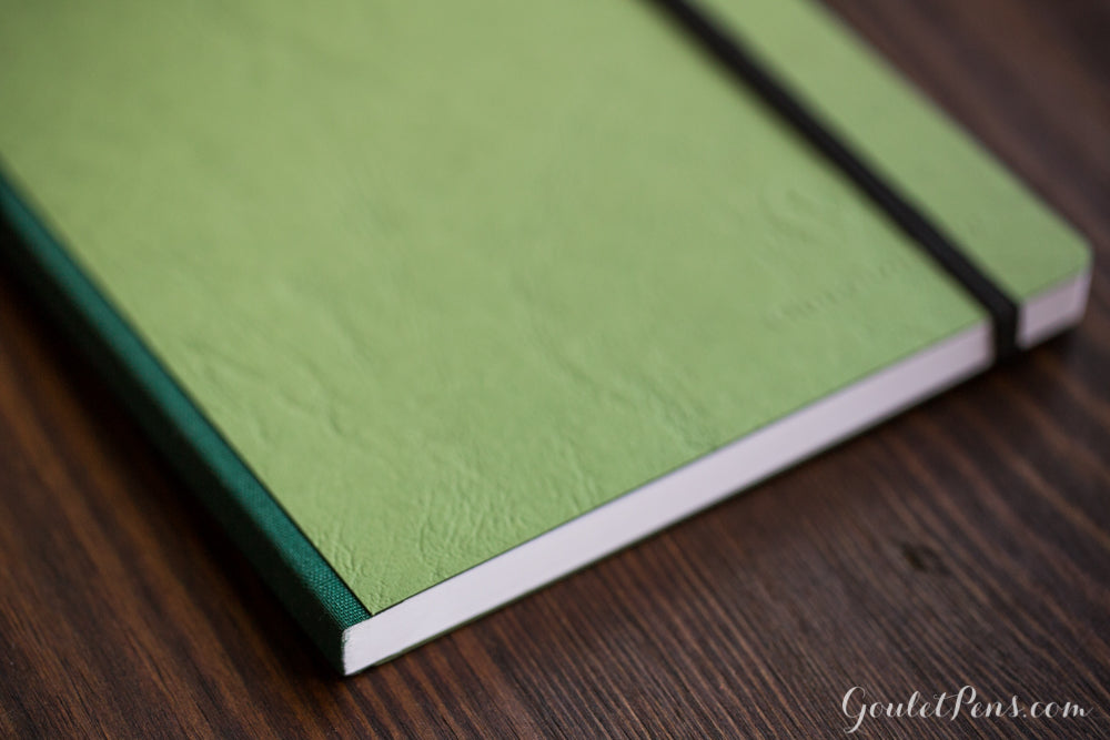 Clairefontaine Basic Clothbound A4 Notebook - Green, Lined