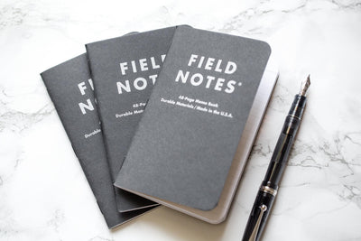 Field Notes Notebooks - Pitch Black, Dot-Grid, 3-Pack (3.5 x 5.5)
