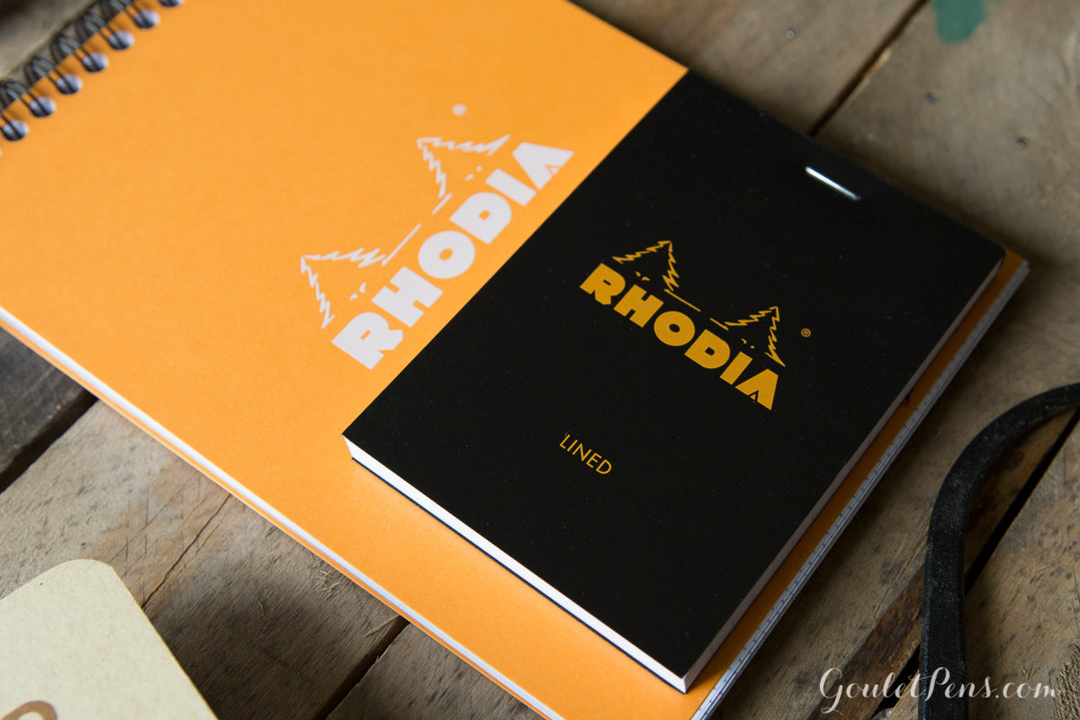 Rhodia No. 12 Premium Small Notepad - Black, Lined