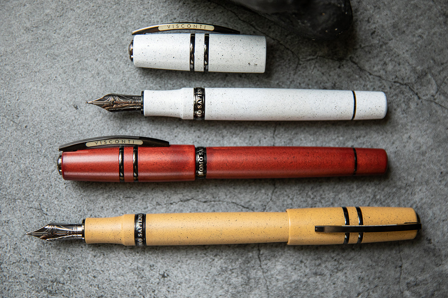 Visconti Homo Sapiens Lava Color Fountain Pen - Blizzard