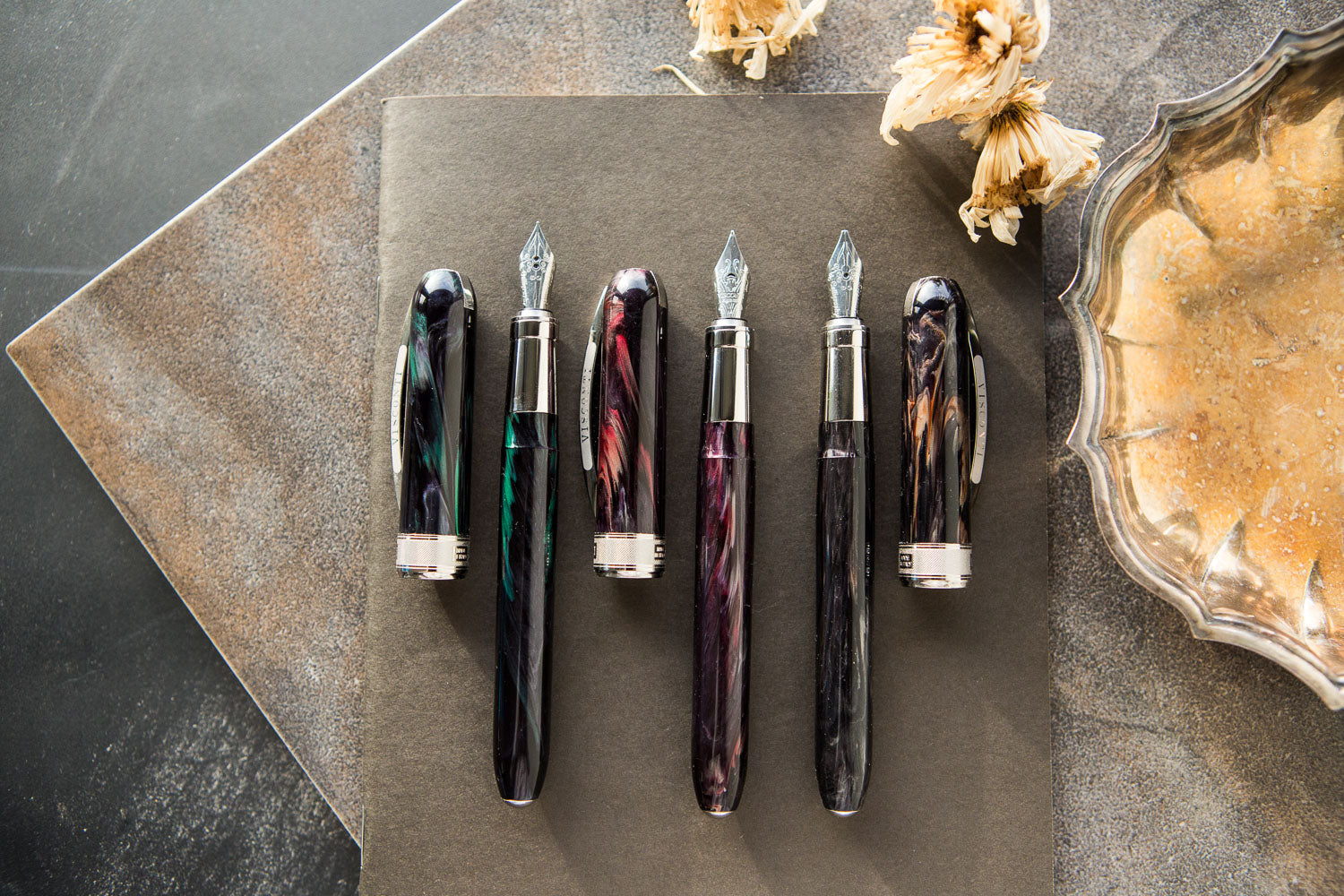 Fine Point Visconti Rembrandt Eclipse KP10-12-FP-F NEW Fountain Pen