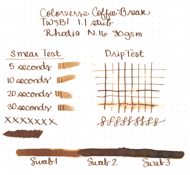 Colorverse Coffee Break - Ink Sample