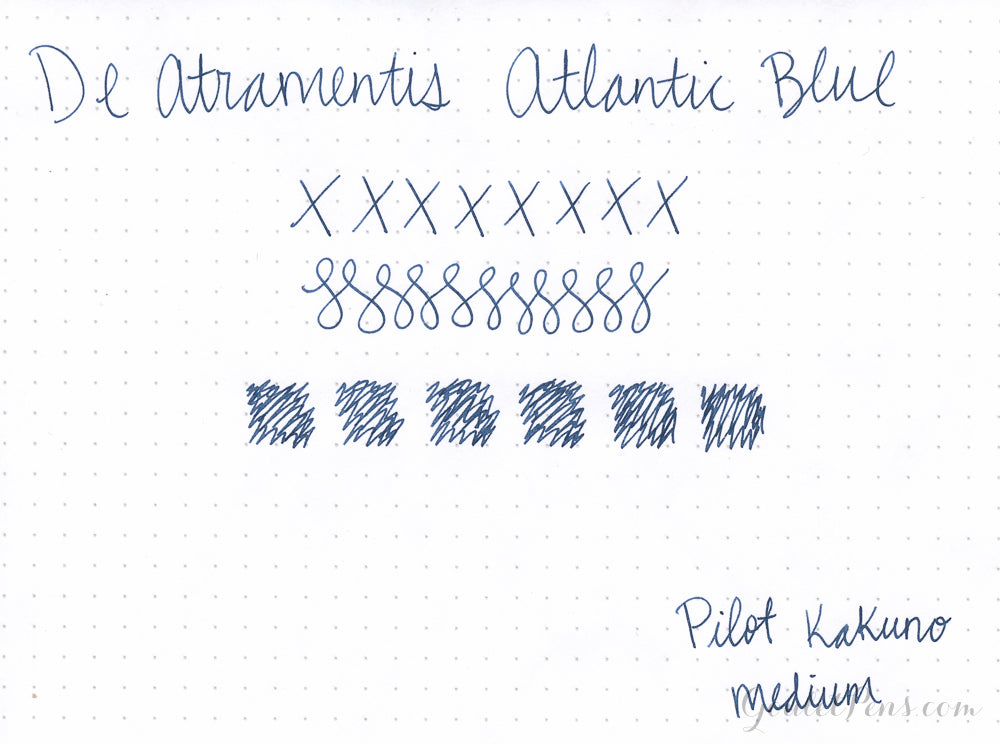De Atramentis Atlantic Blue - 45ml Bottled Ink