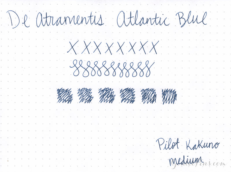 De Atramentis Atlantic Blue - Ink Sample