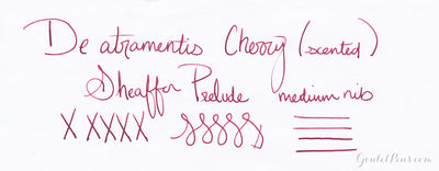De Atramentis Cherry (scented) - Ink Sample