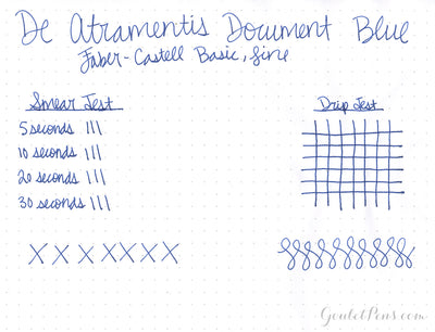 De Atramentis Document Ink - Blue - Ink Sample
