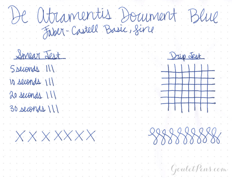 De Atramentis Document Ink Blue - Ink Sample