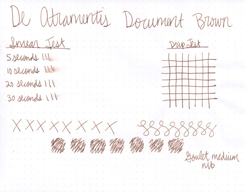 De Atramentis Document Ink Brown - 45ml Bottled Ink