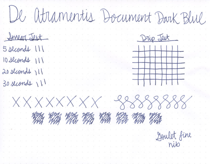 De Atramentis Document Ink - Dark Blue - 35ml Bottled Ink