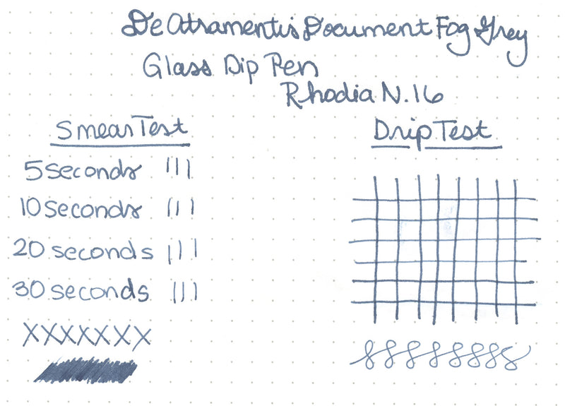 De Atramentis Document Ink Fog Grey - Ink Sample