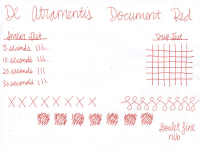 De Atramentis Document Ink - Red - Ink Sample