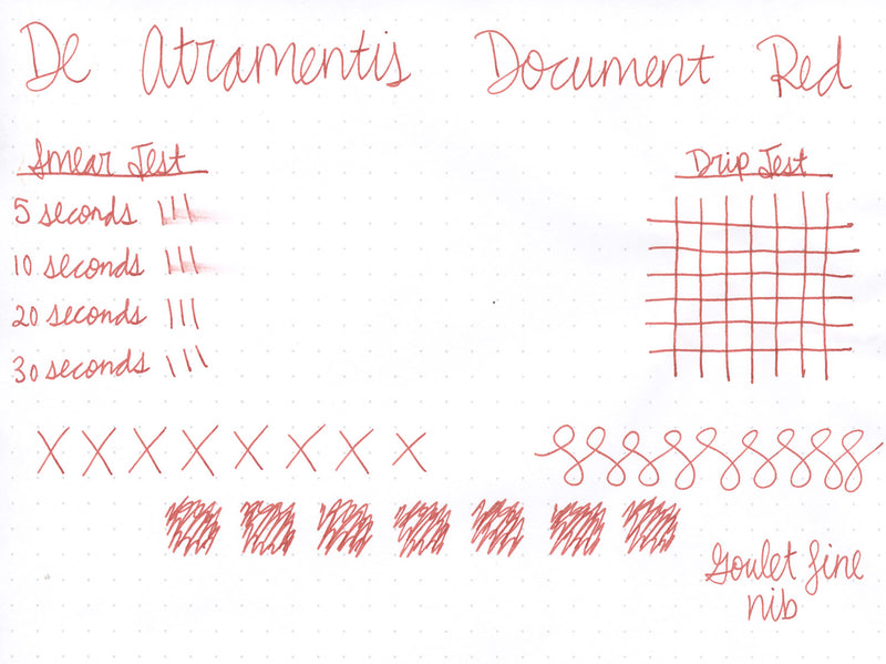 De Atramentis Document Ink Red - Ink Sample