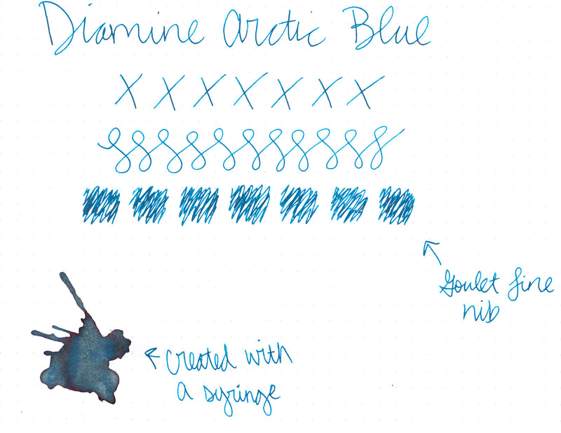Diamine Arctic Blue - Ink Sample