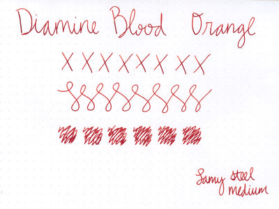 Diamine Blood Orange - 40ml Bottled Ink