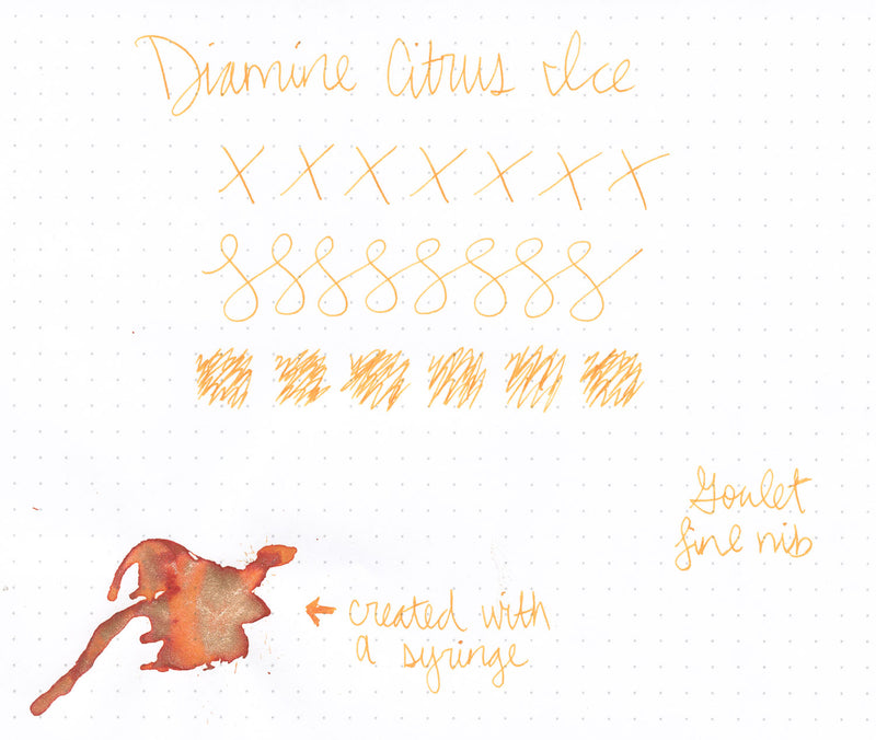 Diamine Citrus Ice - Ink Sample