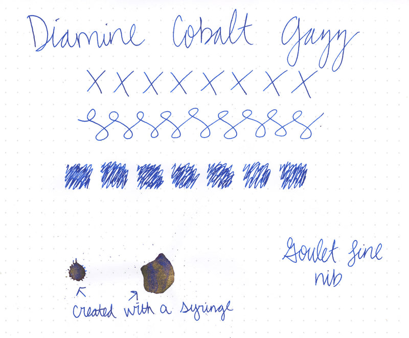 Diamine Cobalt Jazz - Ink Sample
