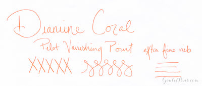 Diamine Coral - Ink Sample