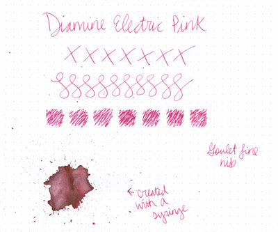 Diamine Electric Pink - Ink Sample