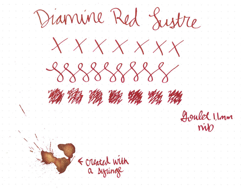 Diamine Red Lustre - Ink Sample