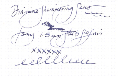 Diamine Shimmering Seas - Ink Sample