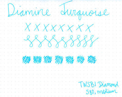 Diamine Turquoise - Ink Sample