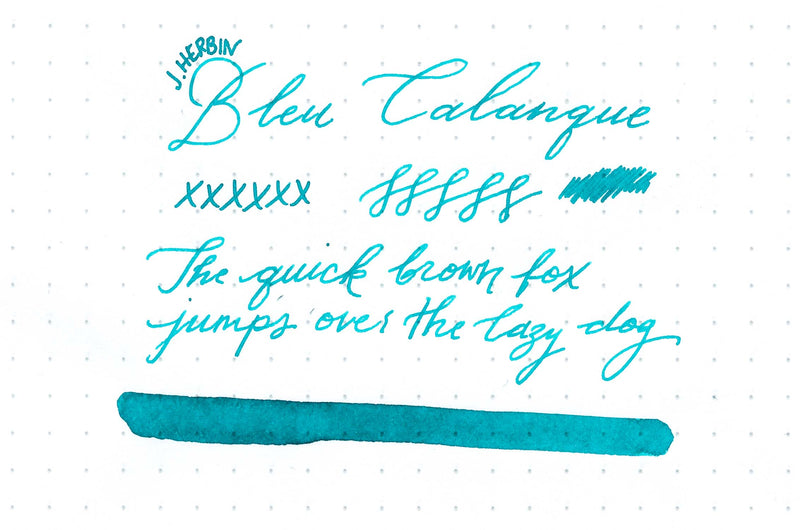 Herbin Bleu Calanque - Ink Sample