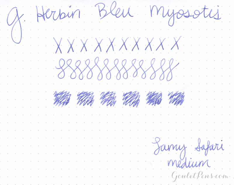 Herbin Bleu Myosotis - Ink Sample