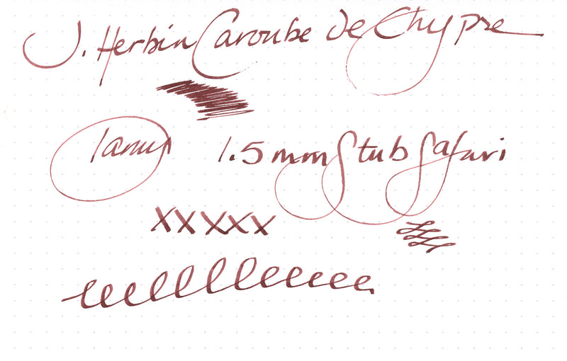 Jacques Herbin 1670 Caroube de Chypre - Ink Sample
