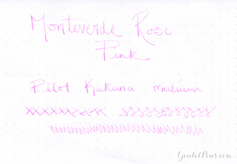 Monteverde Rose Pink - Ink Sample