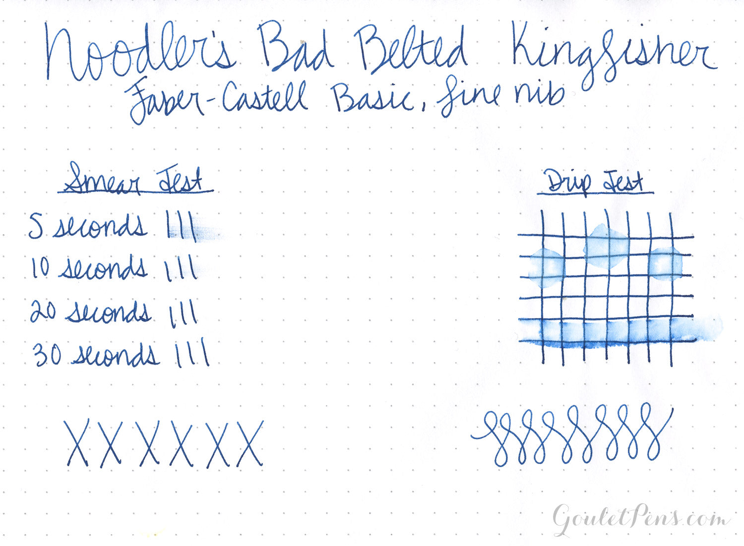 Noodler's Bad Belted Kingfisher - Ink Sample
