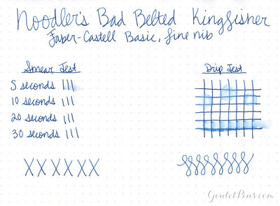 Noodler's Bad Belted Kingfisher - 3oz Bottled Ink