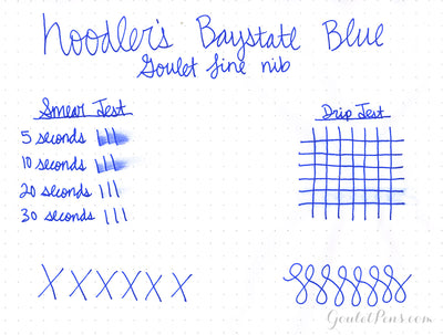 Noodler's Baystate Blue - Ink Sample