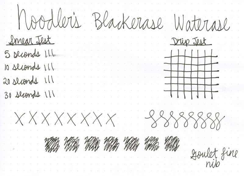 Noodler's Blackerase Waterase Ink - 4.5oz Bottled Ink with Free Charlie Pen
