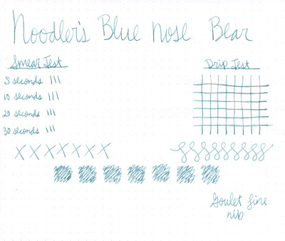 Noodler's Blue Nose Bear - 3oz Bottled Ink