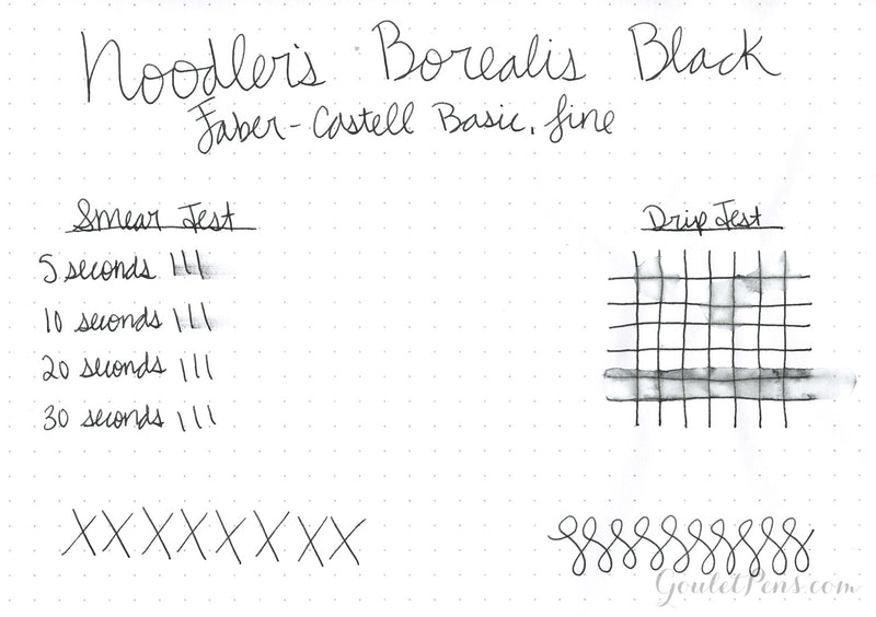 Noodler's Borealis Black - Ink Sample
