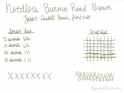 Noodler's Burma Road Brown - Ink Sample