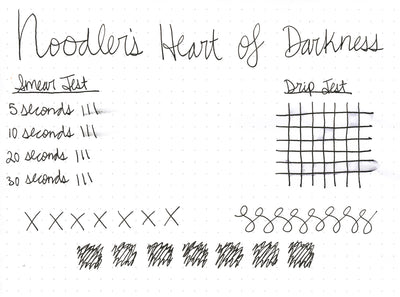 Noodler's Heart of Darkness - Ink Sample