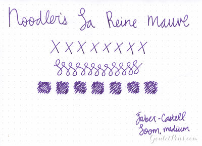 Noodler's La Reine Mauve - Ink Sample