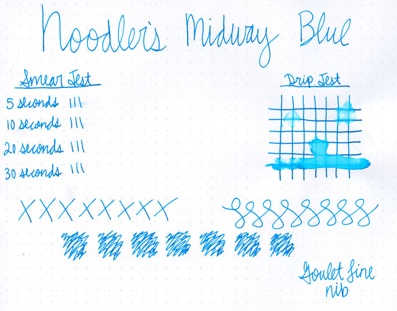 Noodler's Midway Blue - Ink Sample