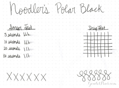 Noodler's Polar Black - Ink Sample