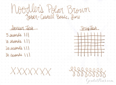 Noodler's Polar Brown - 4.5oz Bottled Ink with Free Pen