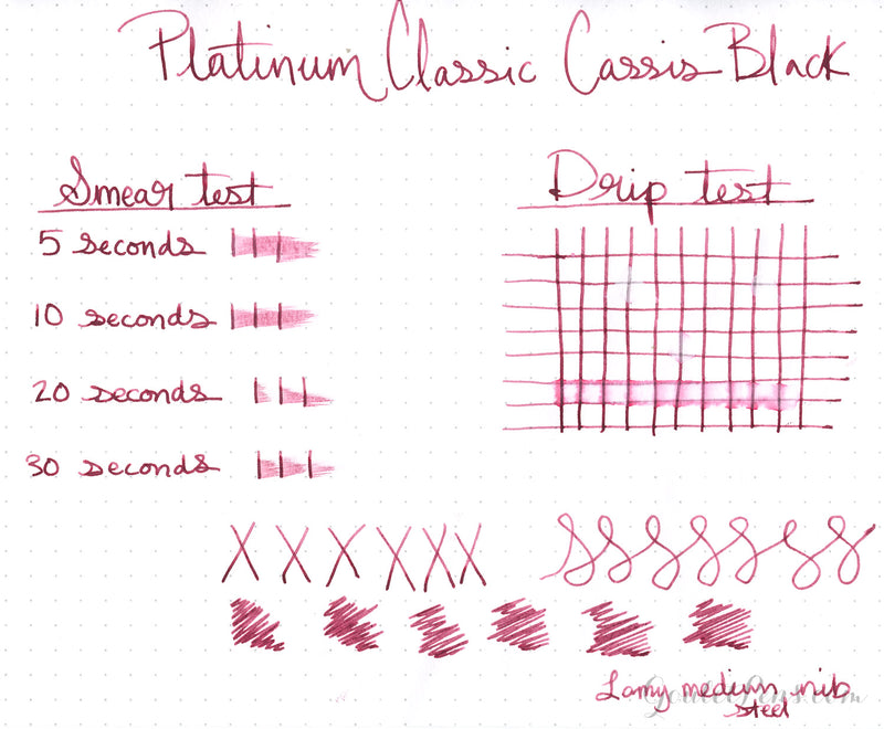 Platinum Classic Cassis Black - Ink Sample