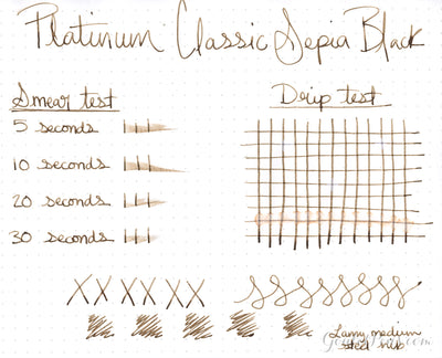 Platinum Classic Sepia Black - 60ml Bottled Ink