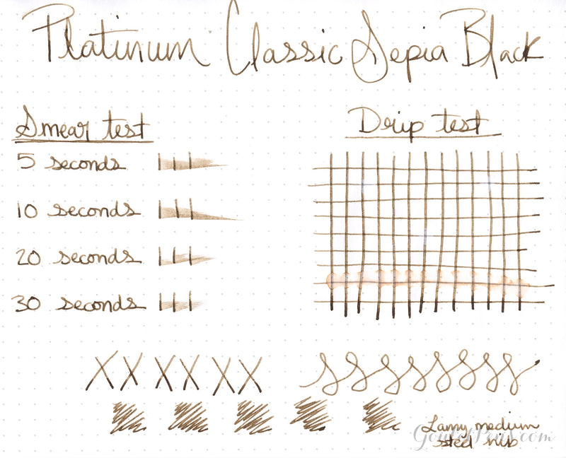 Platinum Classic Sepia Black - Ink Sample
