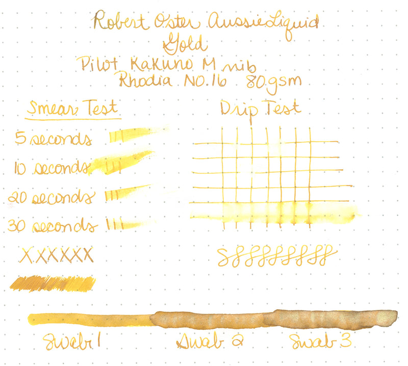 Robert Oster Aussie Liquid Gold - Ink Sample